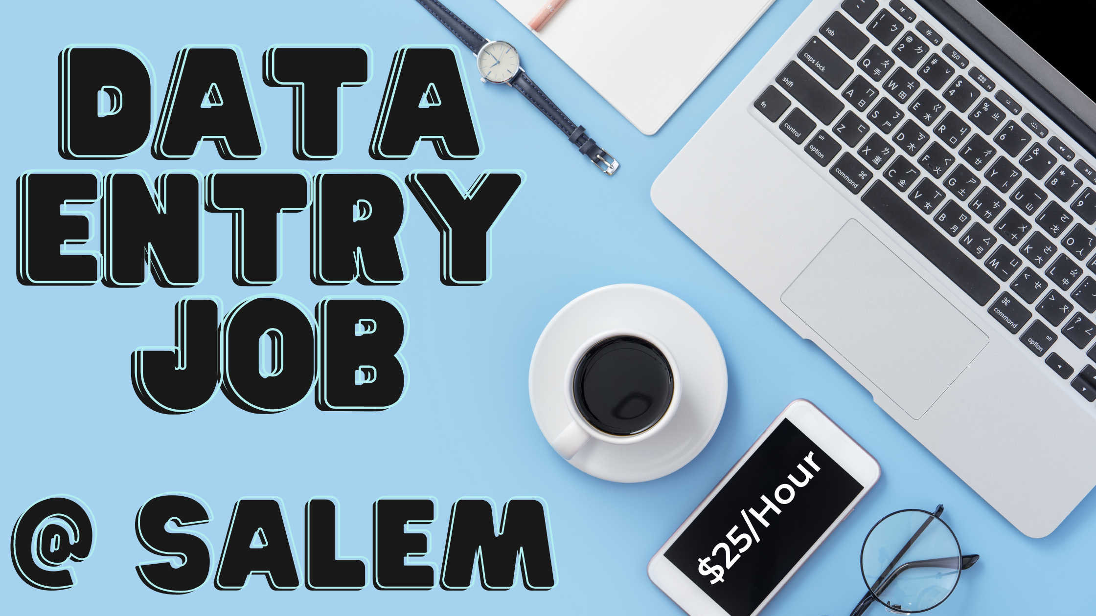 Data Entry Work From Home Jobs At Salem. $25/Hour Typing Jobs From Home.